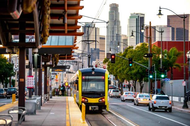 Los Angeles Downtown Skyline aus der 1st St. – Foto
