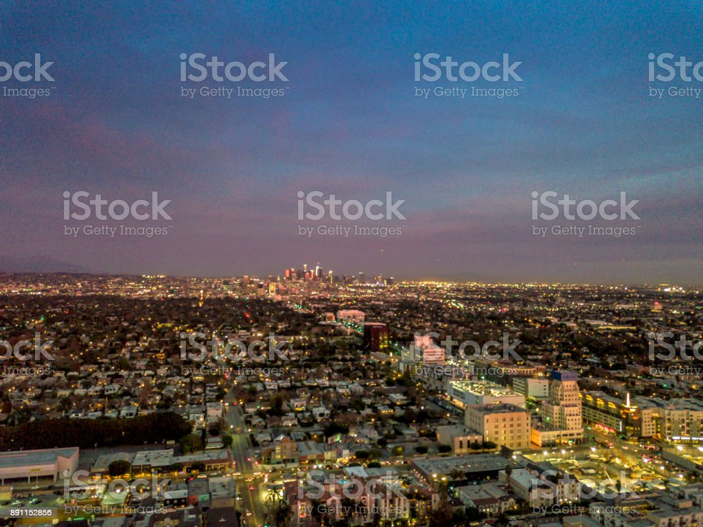 Los Angeles - Drone View stock photo