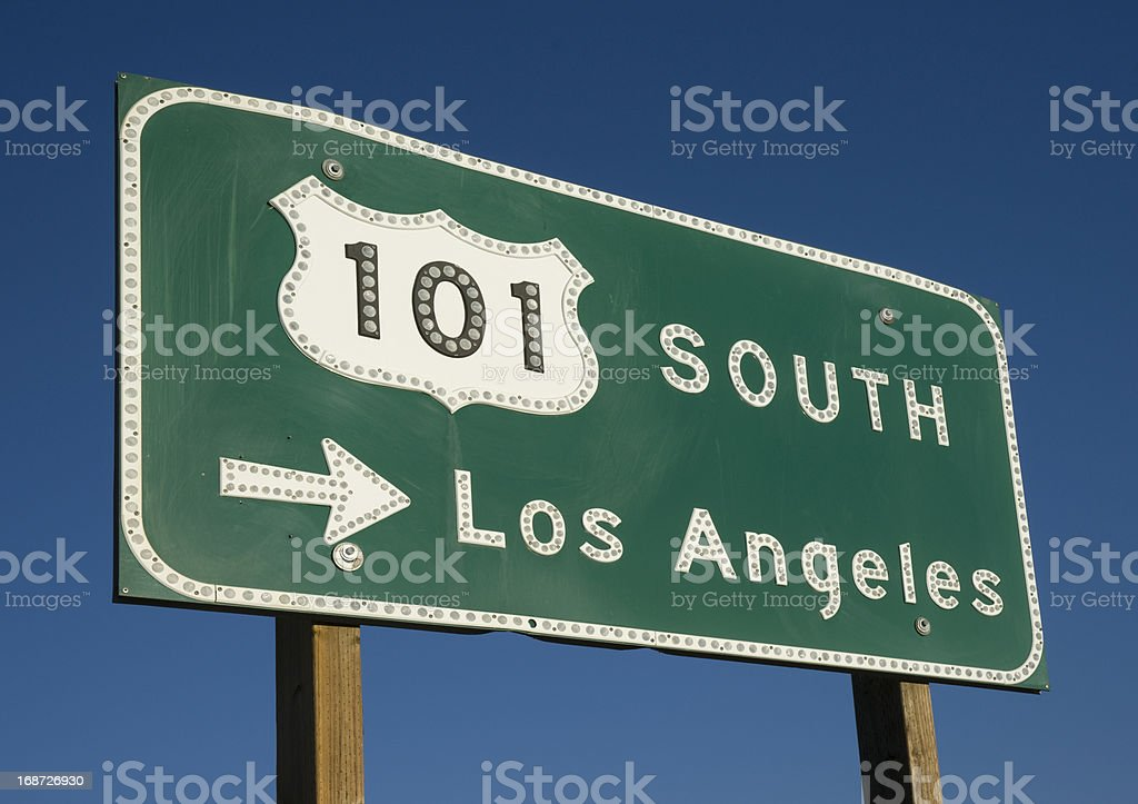 Los Angeles Freeway Sign royalty-free stock photo