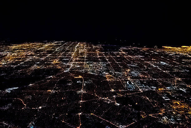 Los Angeles from Above at Night stock photo