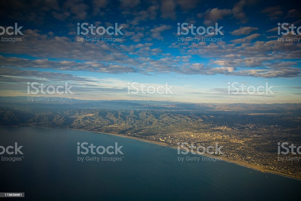 Los Angeles from the Air royalty-free stock photo
