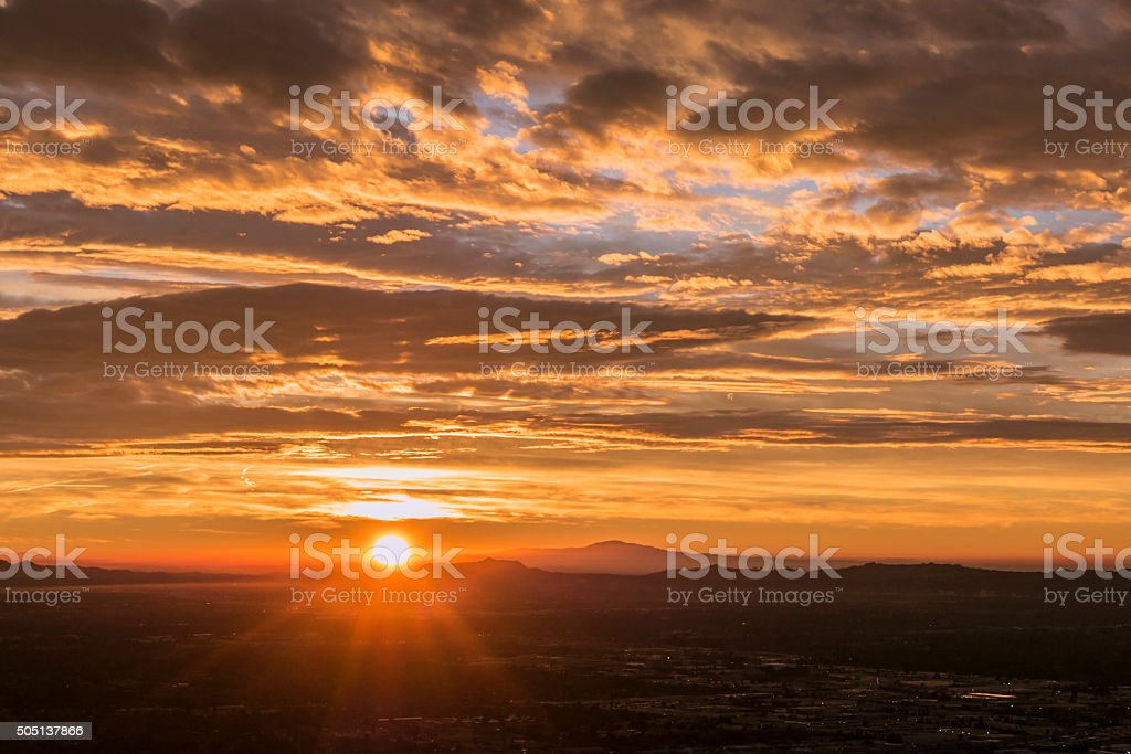 Los Angeles Griffith Park Sunrise stock photo