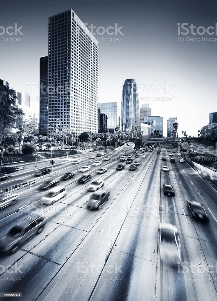 Los Angeles High Way stock photo