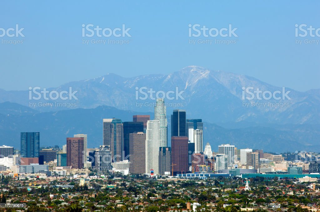 Los Angeles in a clear sunny day royalty-free stock photo