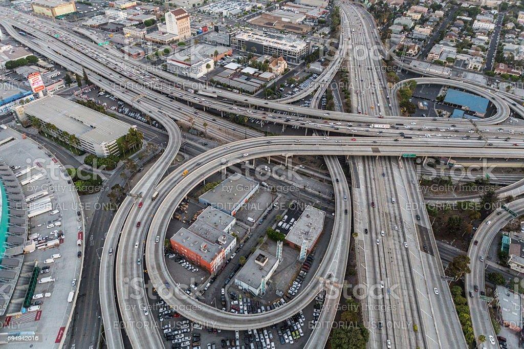 Los Angeles Interchange royalty-free stock photo