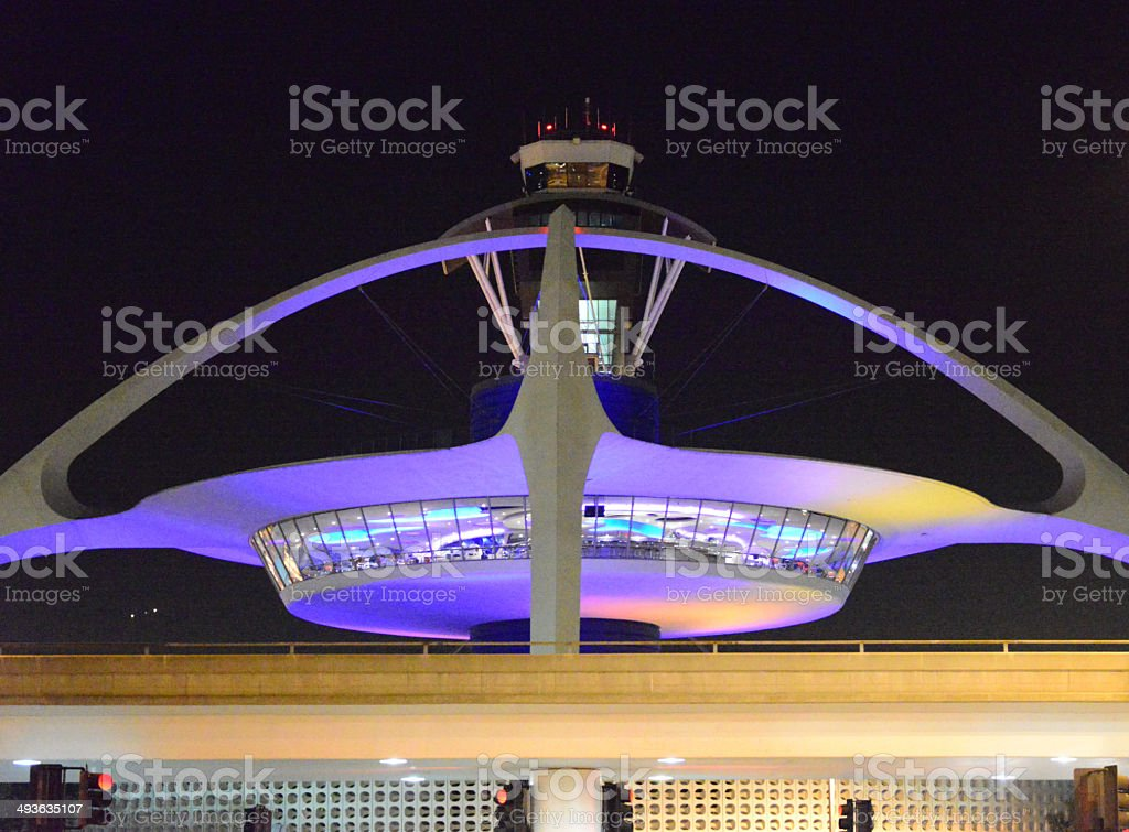 Los Angeles International Airport, California, USA - nocturnal stock photo