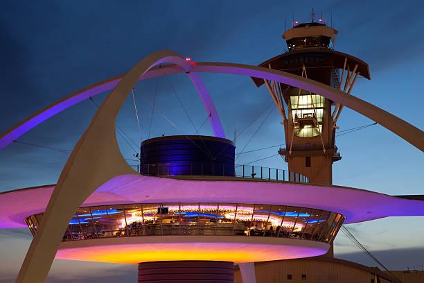 Aeroporto Internacional de Los Angeles LAX. - foto de acervo