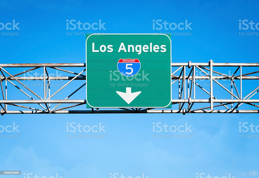 Los Angeles Interstate 5 Sign stock photo