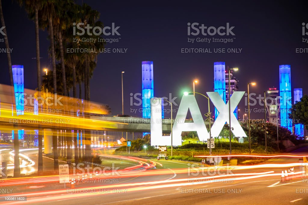 Los Angeles LAX Airport stock photo