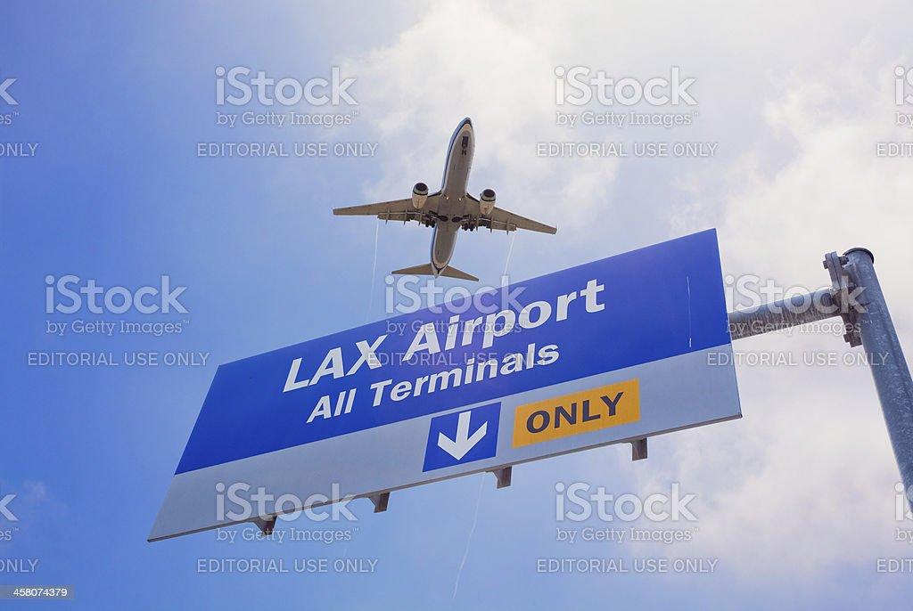Los Angeles LAX Airport stock photo