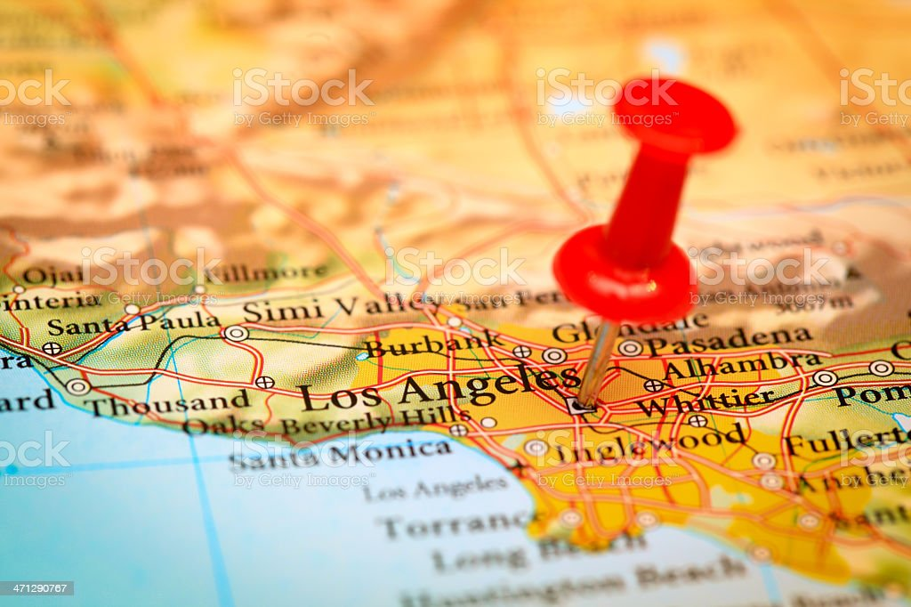 Los Angeles Map Usa Stock Photo U0026 More Pictures Of California | IStock