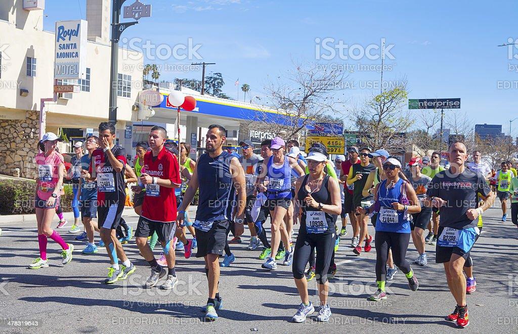 Los Angeles Marathon royalty-free stock photo