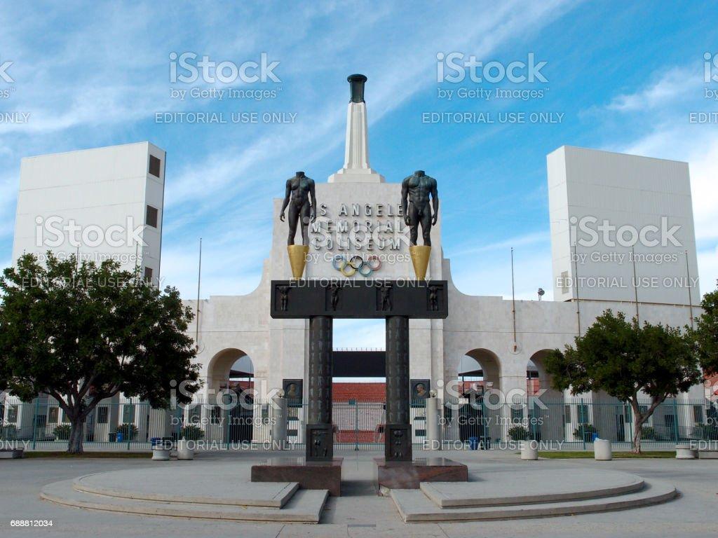 Los Angeles Memorial Coliseum stock photo