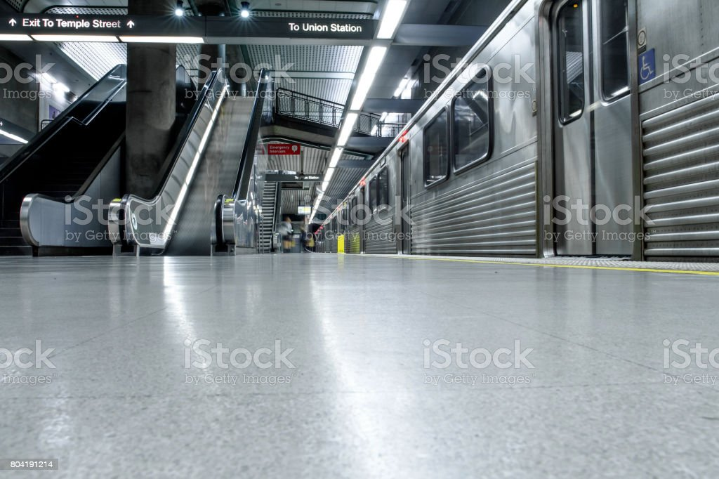 Los Angeles Metro Station and Subway stock photo