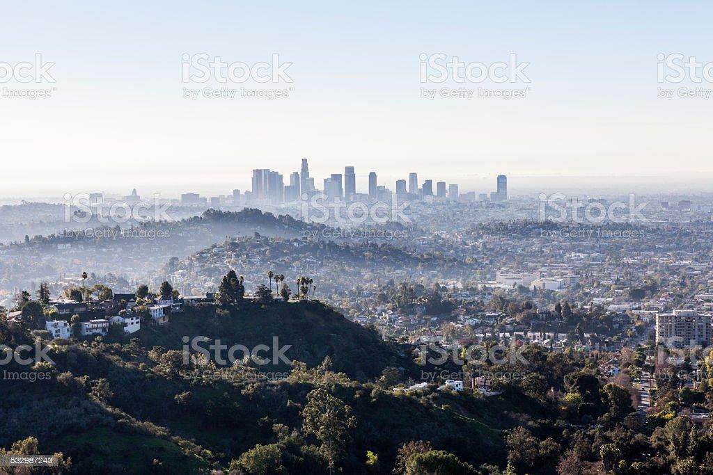 Los Angeles Morning Mist stock photo