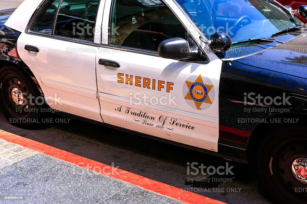 Los Angeles Police Cruiser stock photo