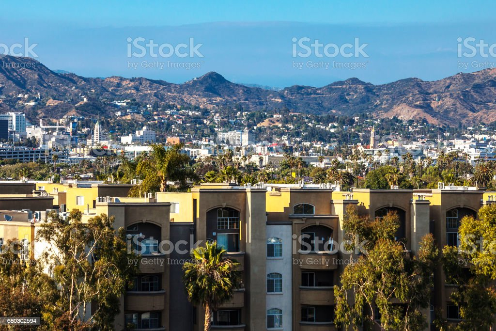 Los Angeles residential area. stock photo