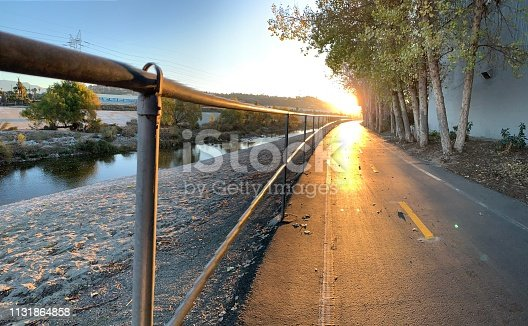 Bike path at dawn near Atwater Village