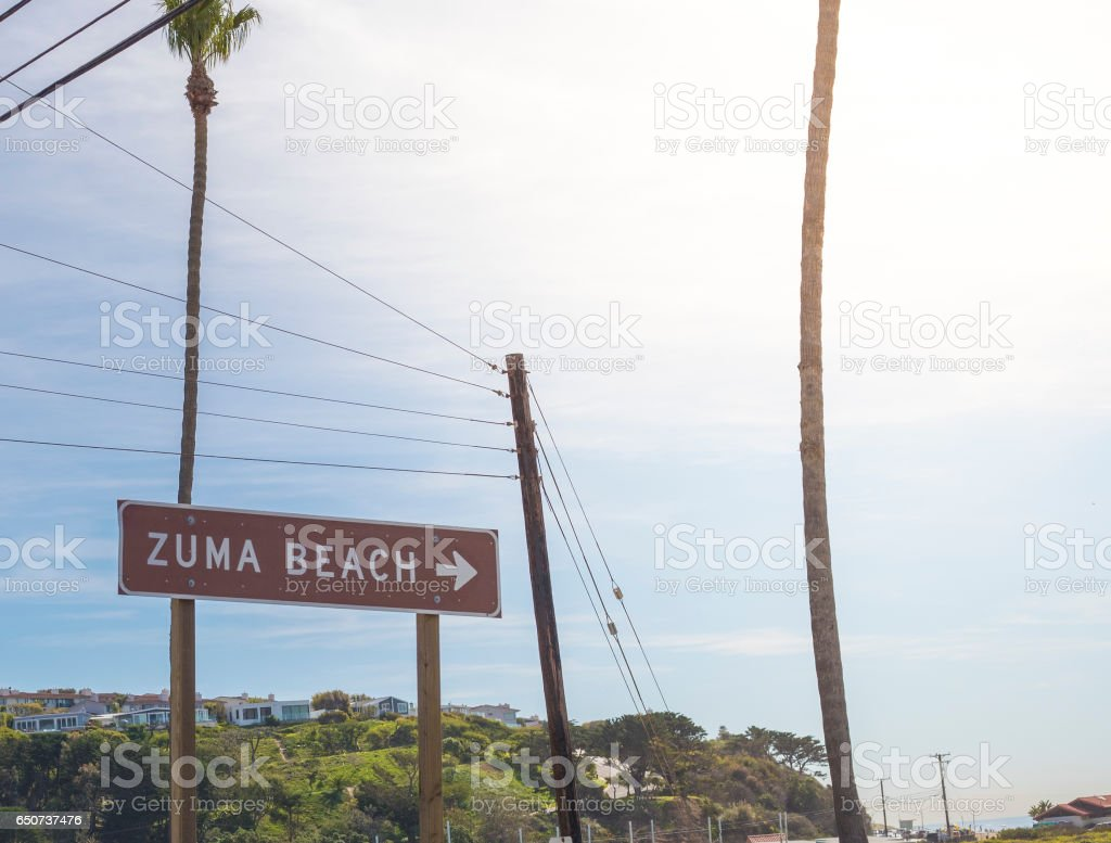 Los Angeles Road Sign stock photo