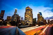 Los Angeles, California at twilight.