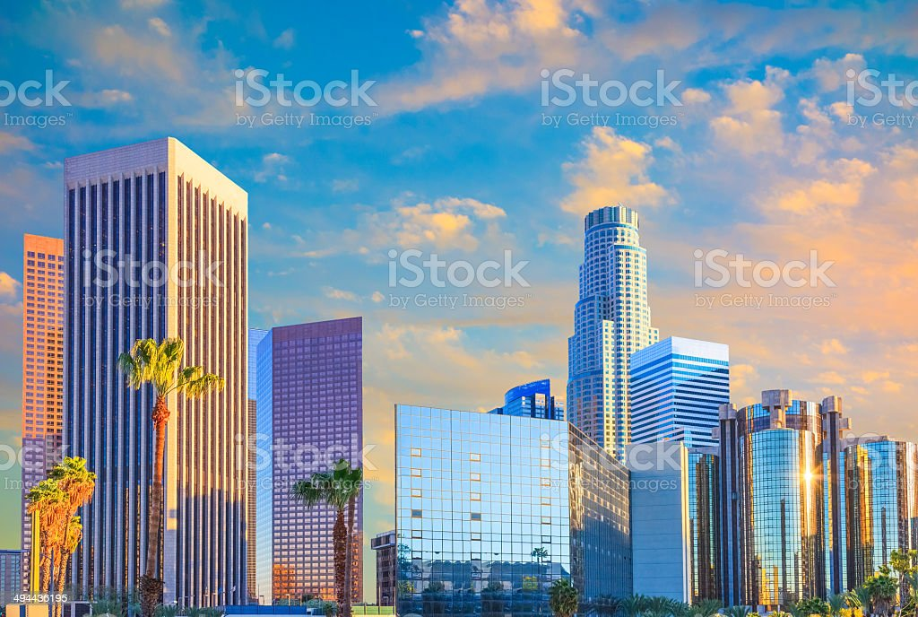 Los Angeles skyline, CA stock photo