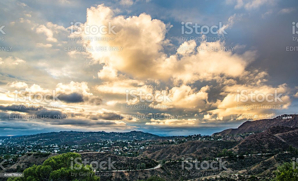 Los Angeles Skyline - Hollywood Hills stock photo