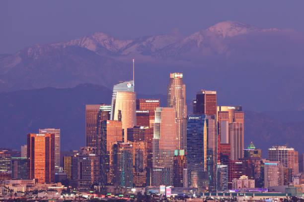 Los Angeles Skyline - Night stock photo