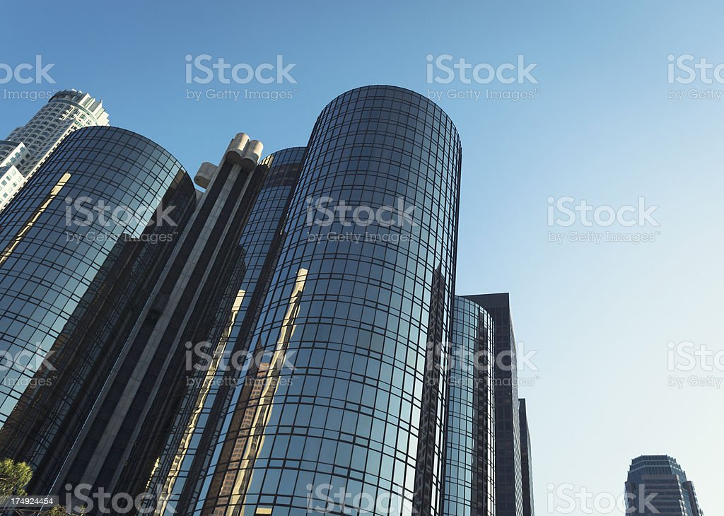 Los angeles skyline on the downtown royalty-free stock photo