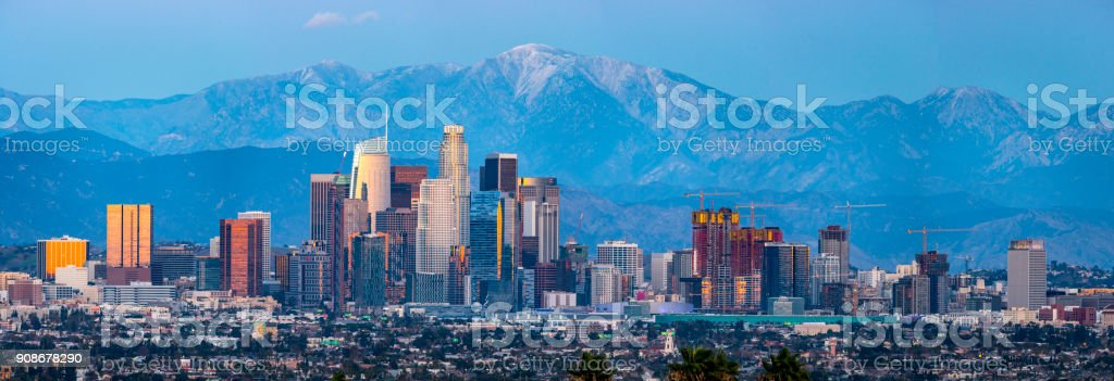 Los Angeles Skyline Panaorma stock photo