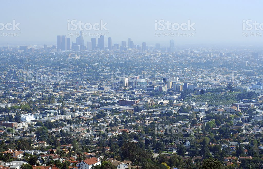 Los Angeles Skyline royalty-free stock photo