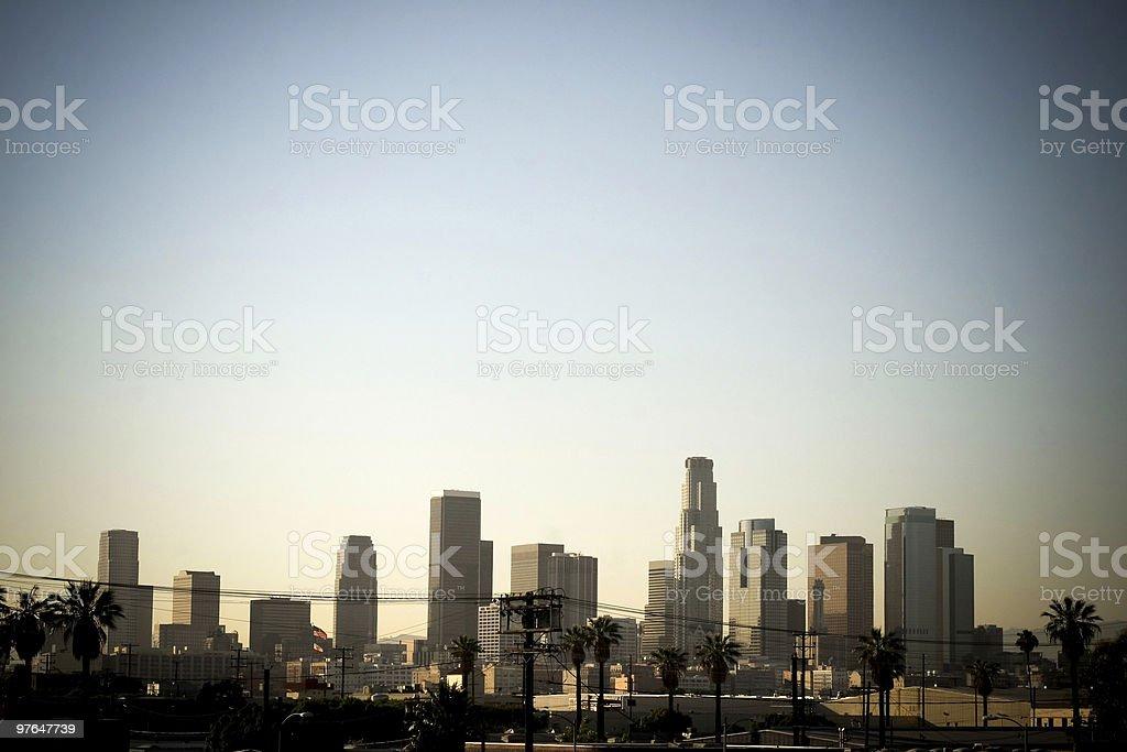 los angeles skyline royalty-free stock photo
