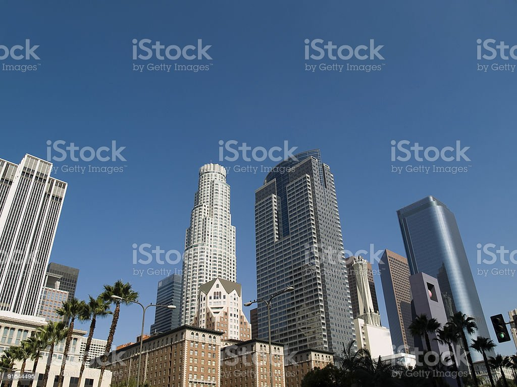 Los Angeles Skyscrapers stock photo