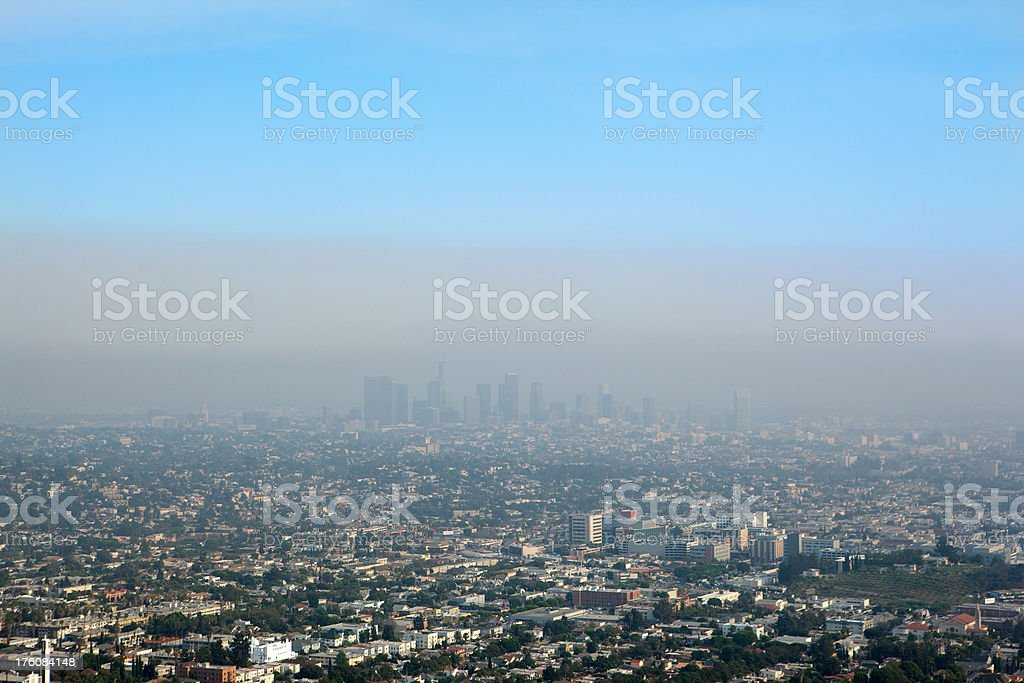 Los Angeles Smog royalty-free stock photo