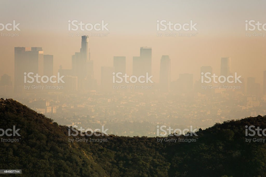 Los Angeles Smog stock photo
