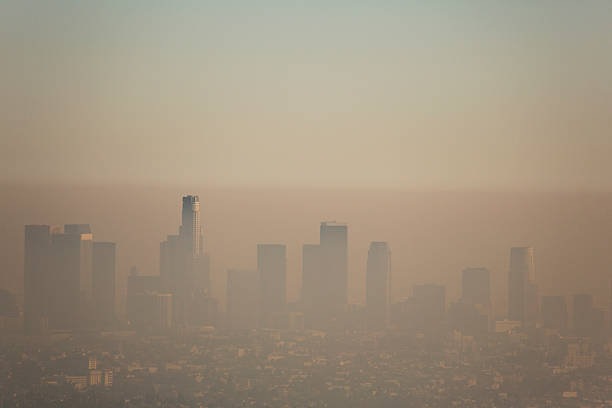 los angeles smog - pollution stock pictures, royalty-free photos & images