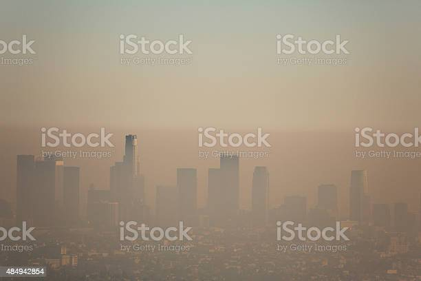 Los Angeles Smog Stock Photo - Download Image Now