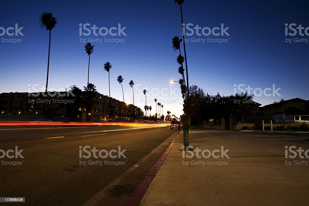 Los Angeles Street Long Exposure royalty-free stock photo