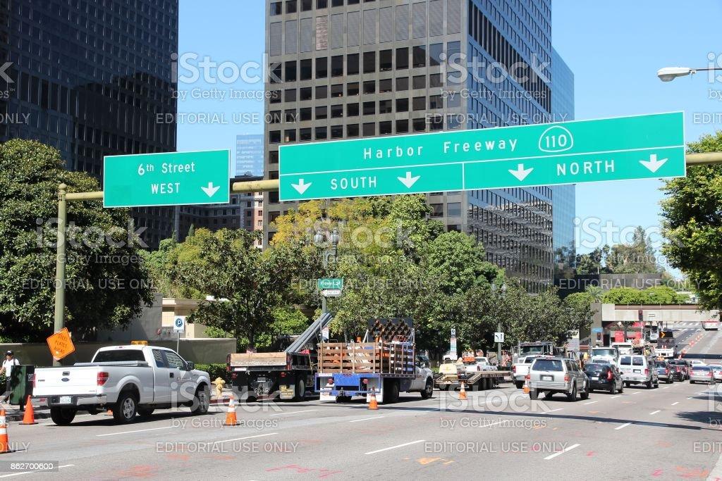 Los Angeles street stock photo