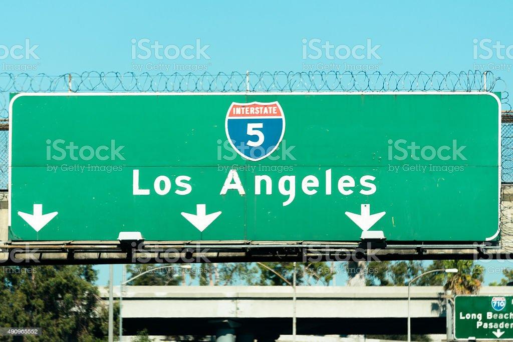 Los Angeles street sign stock photo