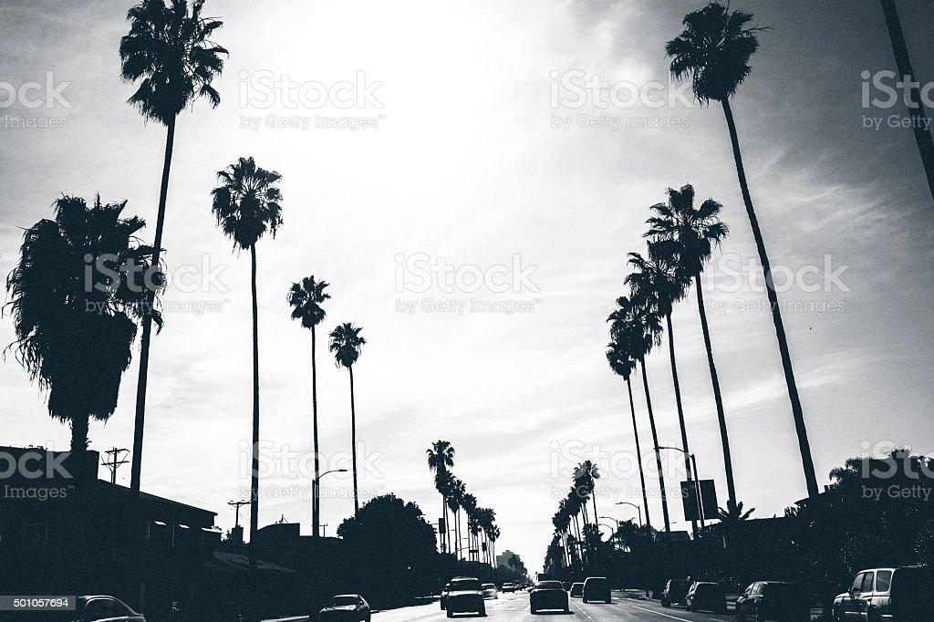 Los Angeles streets. stock photo