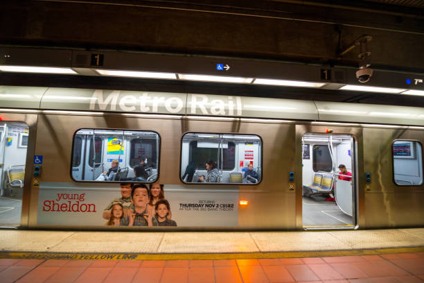 U-Bahn-Station Los Angeles, Kalifornien, USA – Foto