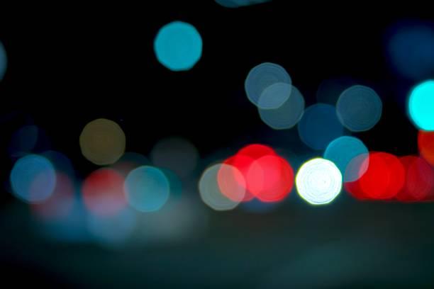 Los Angeles Sunset Blvd Car light Bokeh stock photo