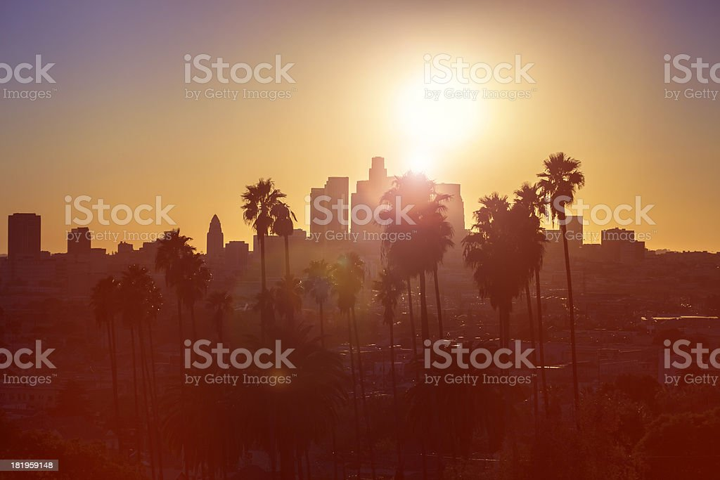 Los Angeles Sunset stock photo