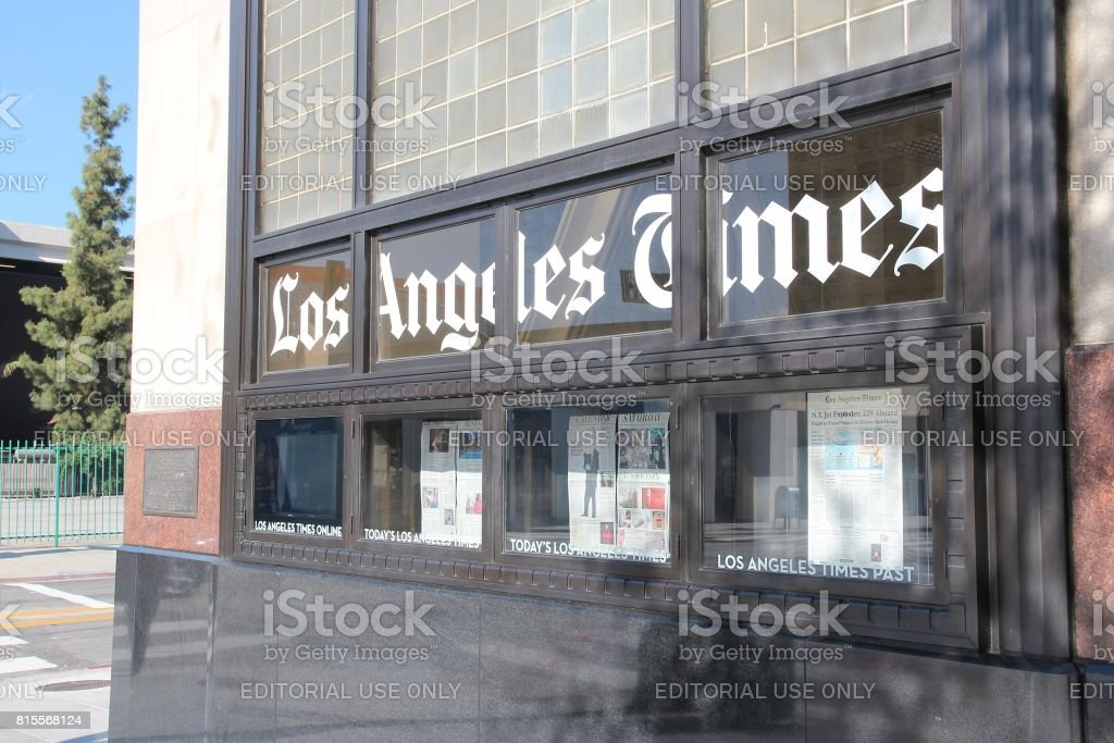 Los Angeles Times stock photo