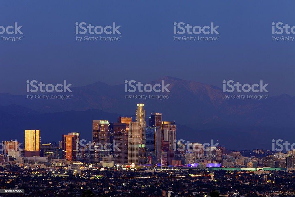 Los Angeles in der Dämmerung – Foto