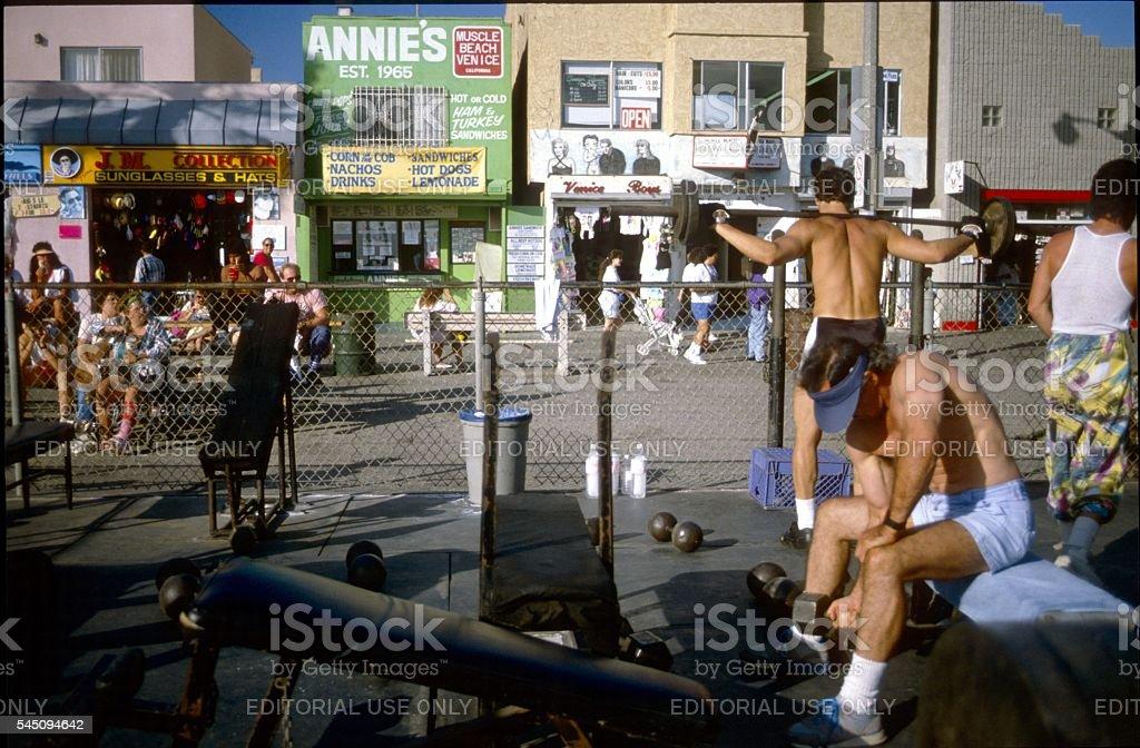 Los Angeles, praia de Veneza - foto de acervo
