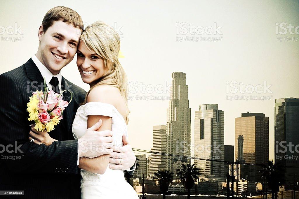 Los Angeles Wedding royalty-free stock photo