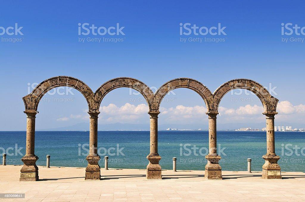 Los Arcos Amphitheater in Puerto Vallarta, Mexico stock photo