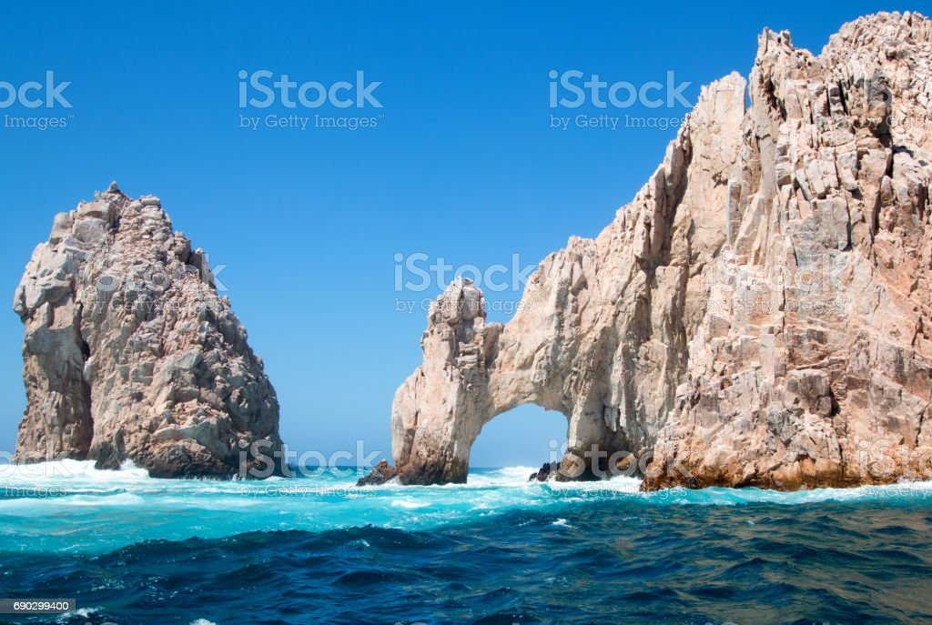 Los Arcos (the Arch) at Lands End at Cabo San Lucas Baja Mexico MEX stock photo