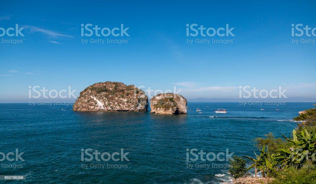 Los Arcos islands , Puerta Vallarta  Mexico stock photo